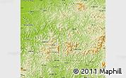 Physical Map of Benxi