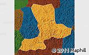 Political Map of Benxi, darken