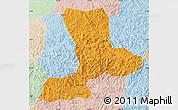 Political Map of Benxi, lighten