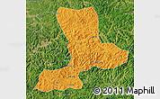 Political Map of Benxi, satellite outside