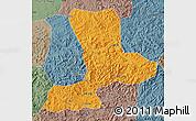 Political Map of Benxi, semi-desaturated