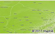 Physical Panoramic Map of Changtu