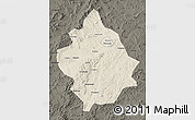 Shaded Relief Map of Chaoyang, darken