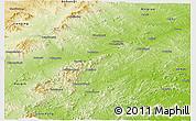 Physical Panoramic Map of Chaoyang