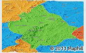 Political Panoramic Map of Chaoyang