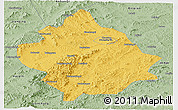 Savanna Style Panoramic Map of Chaoyang