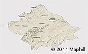 Shaded Relief Panoramic Map of Chaoyang, cropped outside