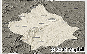 Shaded Relief Panoramic Map of Chaoyang, darken