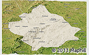 Shaded Relief Panoramic Map of Chaoyang, satellite outside