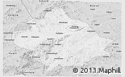 Silver Style Panoramic Map of Chaoyang