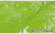 Physical 3D Map of Dandong Shiqu