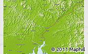Physical Map of Dandong Shiqu