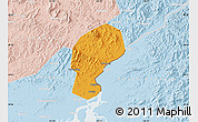 Political Map of Dandong Shiqu, lighten