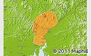 Political Map of Dandong Shiqu, physical outside