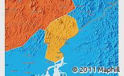 Political Map of Dandong Shiqu