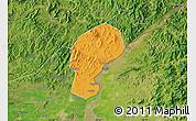 Political Map of Dandong Shiqu, satellite outside