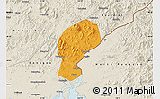 Political Map of Dandong Shiqu, shaded relief outside