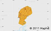 Political Map of Dandong Shiqu, single color outside