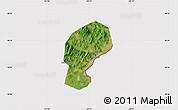 Satellite Map of Dandong Shiqu, cropped outside