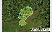 Satellite Map of Dandong Shiqu, darken