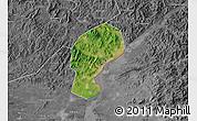Satellite Map of Dandong Shiqu, desaturated