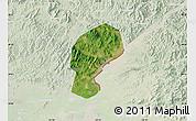 Satellite Map of Dandong Shiqu, lighten