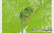 Satellite Map of Dandong Shiqu, physical outside