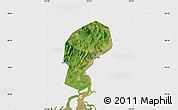 Satellite Map of Dandong Shiqu, single color outside