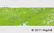 Physical Panoramic Map of Dandong Shiqu