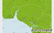 Physical Map of Dawa