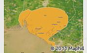 Political Map of Dawa, satellite outside