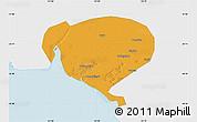 Political Map of Dawa, single color outside
