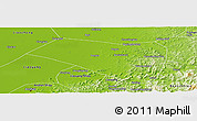 Physical Panoramic Map of Dengta
