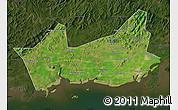 Satellite Map of Donggou, darken
