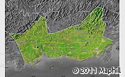 Satellite Map of Donggou, desaturated