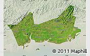 Satellite Map of Donggou, lighten