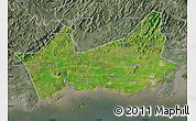 Satellite Map of Donggou, semi-desaturated