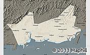 Shaded Relief Map of Donggou, darken
