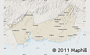 Shaded Relief Map of Donggou, lighten