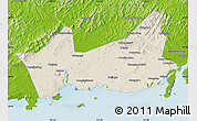Shaded Relief Map of Donggou, physical outside