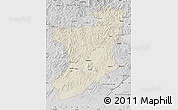 Shaded Relief Map of Fengcheng, desaturated
