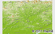 Physical Panoramic Map of Fengcheng