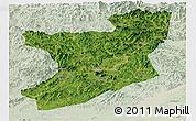Satellite Panoramic Map of Fengcheng, lighten