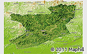 Satellite Panoramic Map of Fengcheng, physical outside
