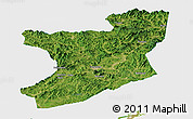 Satellite Panoramic Map of Fengcheng, single color outside