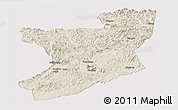 Shaded Relief Panoramic Map of Fengcheng, cropped outside