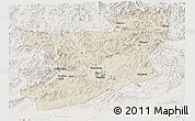 Shaded Relief Panoramic Map of Fengcheng, lighten
