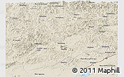Shaded Relief Panoramic Map of Fengcheng