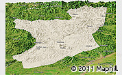 Shaded Relief Panoramic Map of Fengcheng, satellite outside