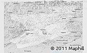 Silver Style Panoramic Map of Fengcheng